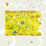 出産祝いギフト・お友達へのプレゼント | オリジナルイラストのブランケット