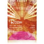Room 1th Anniversary フライヤーデザイン